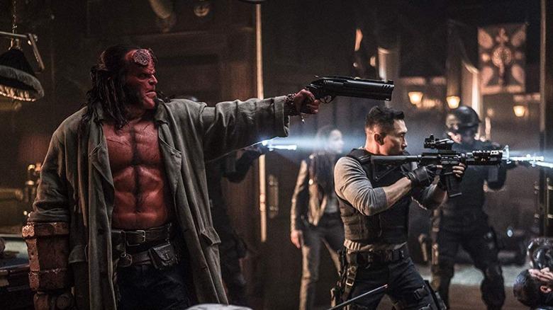 David Harbour and Daniel Dae Kim in Hellboy