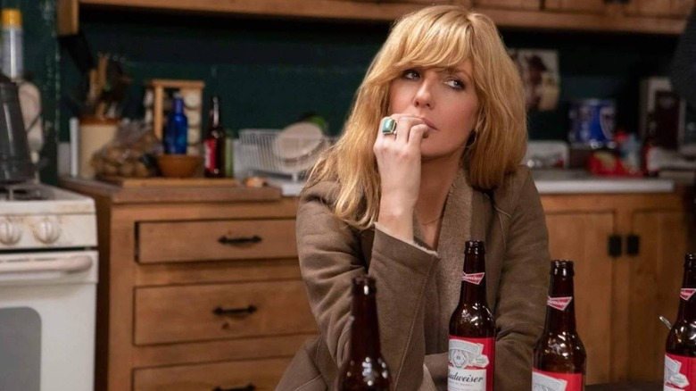 Beth Dutton kicks back with a few beers on Yellowstone