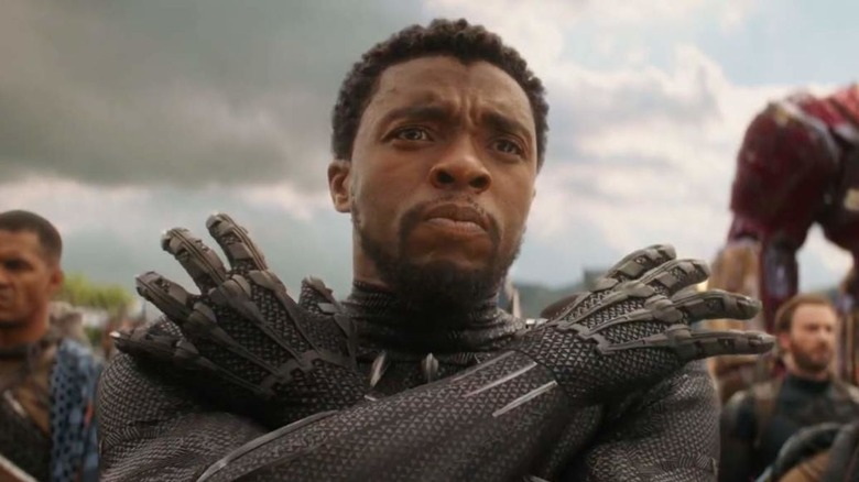 Chadwick Boseman as T'Challa in Avengers: Infinity War