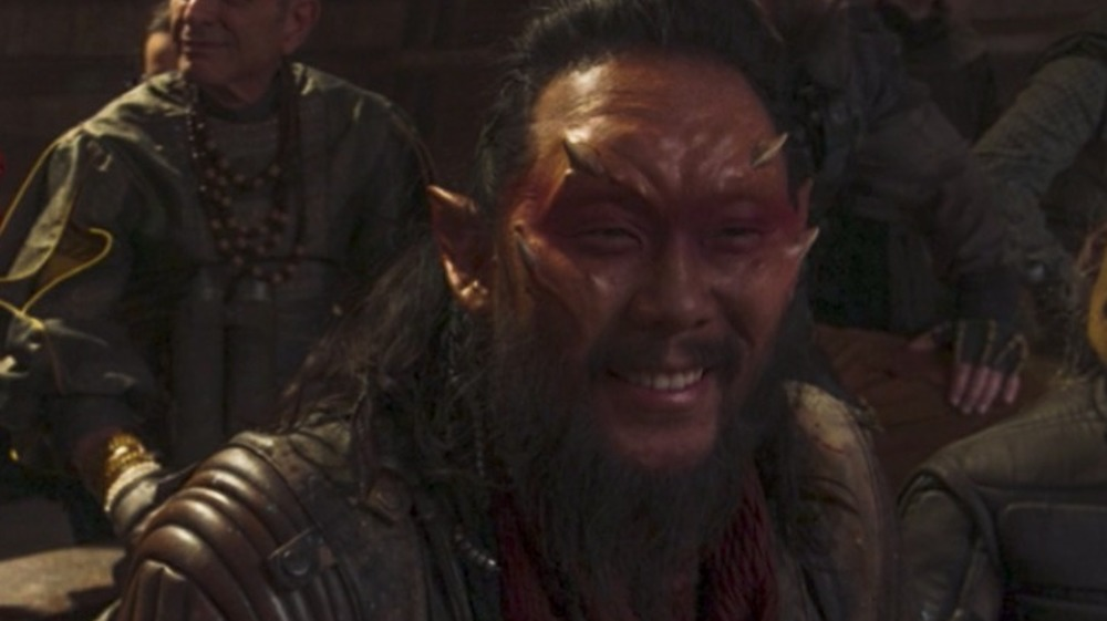 David Choe in alien makeup