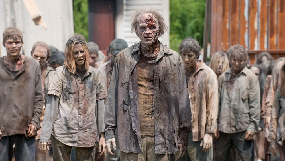 Horde of zombies on The Walking Dead