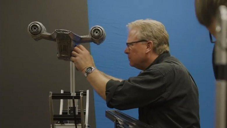 ILM films the Razorcrest model