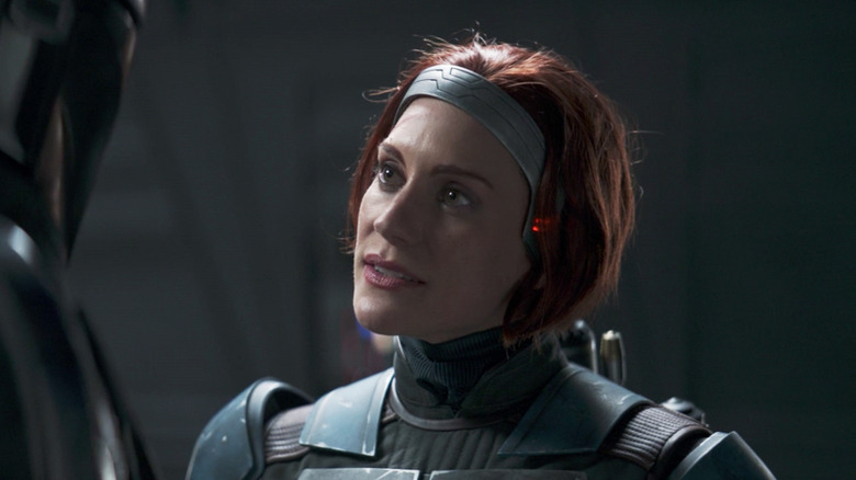 Katee Sackhoff as Bo-Katan Kryze on The Mandalorian