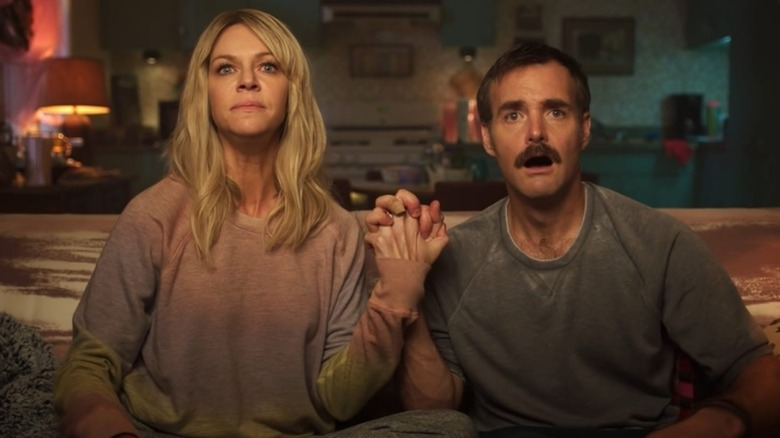 Kaitlin Olson as Cricket Melfi and Will Forte as Jann Melfi in Quibi's Flipped
