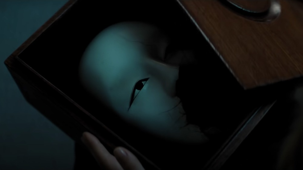 Safin's mask in a box in No Time to Die