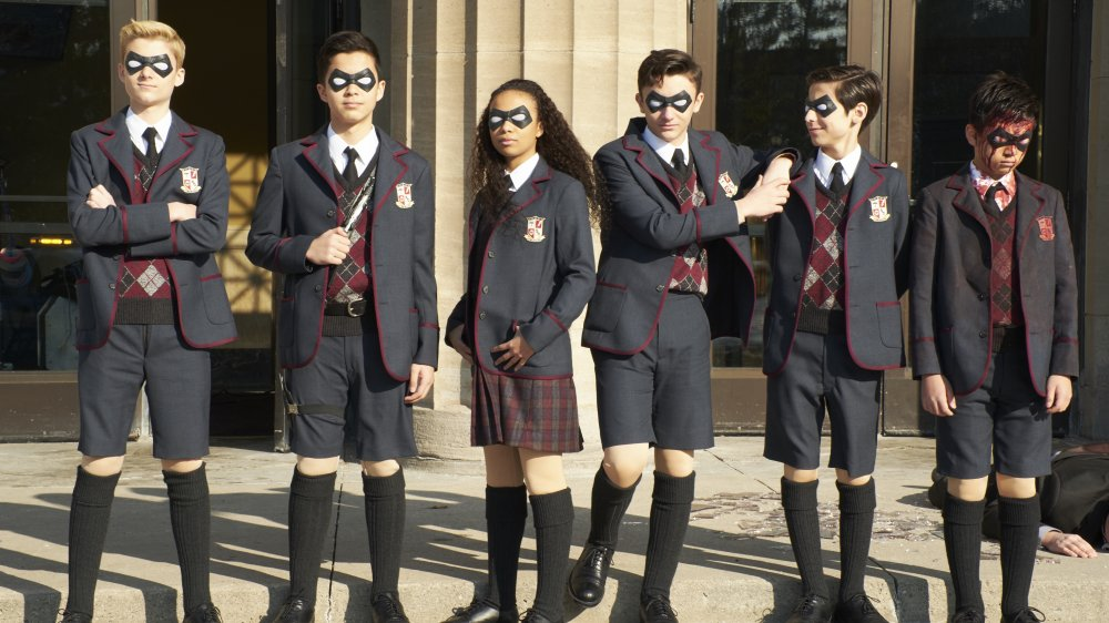 The young cast of Netflix's The Umbrella Academy