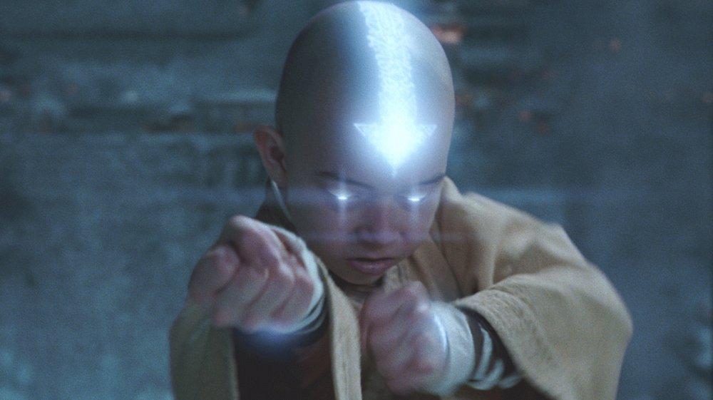 Noah Ringer as Avatar Aang in The Last Airbender
