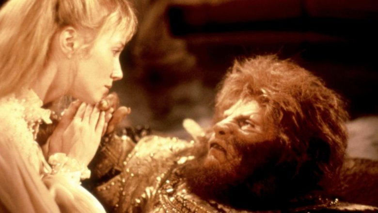 Rebecca De Mornay and John Savage in Beauty and the Beast