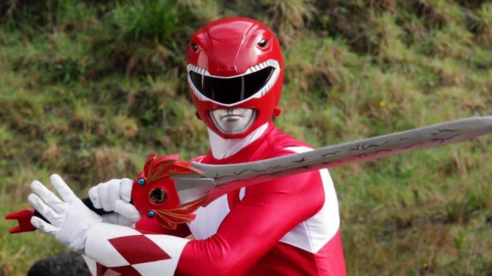 Austin St. John as the Red Ranger in Power Rangers
