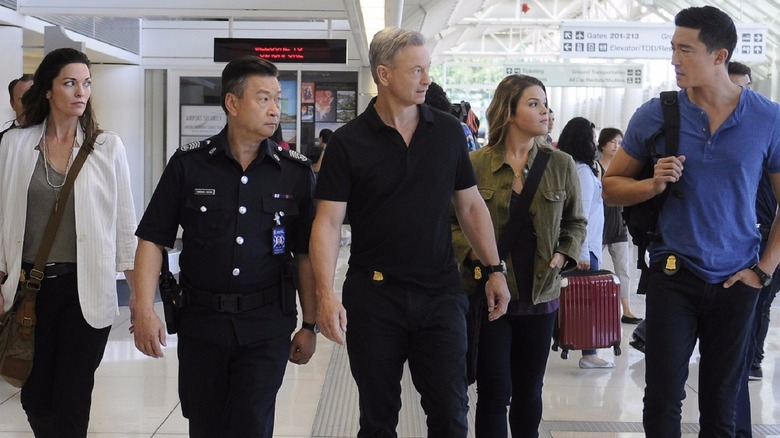 Beyond Borders cast in airport