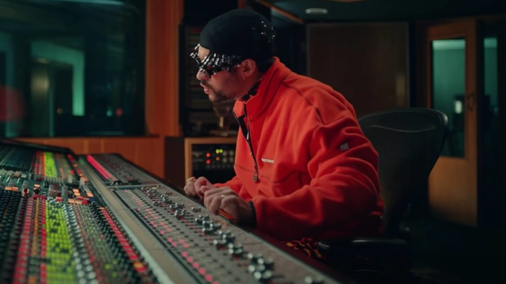 Bad Bunny at the mixing board