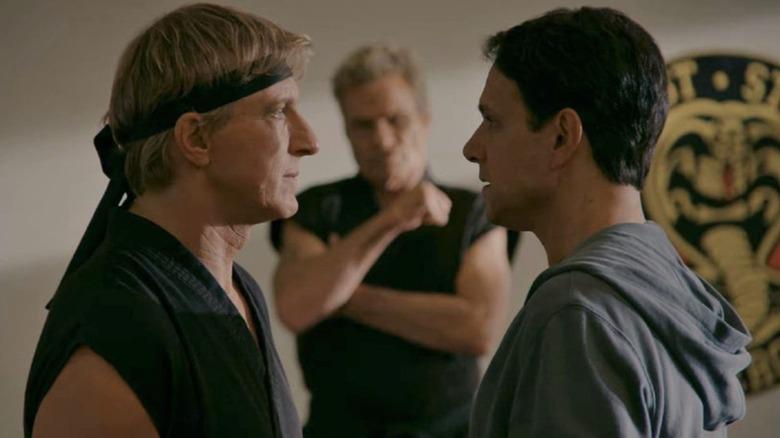Ralph Macchio as Daniel LaRusso and William Zabka as Johnny Lawrence on Cobra Kai