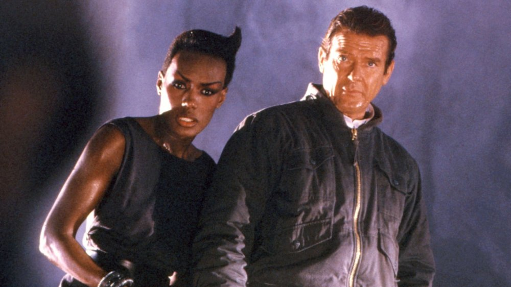 Roger Moore and Grace Jones in A View to Kill