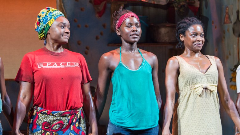 The cast of Eclipsed on stage