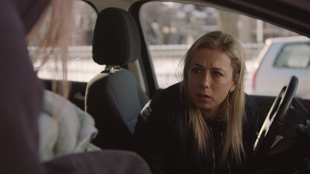 Anita (Iliza Shlesinger) sits in a car in Pieces of a Woman