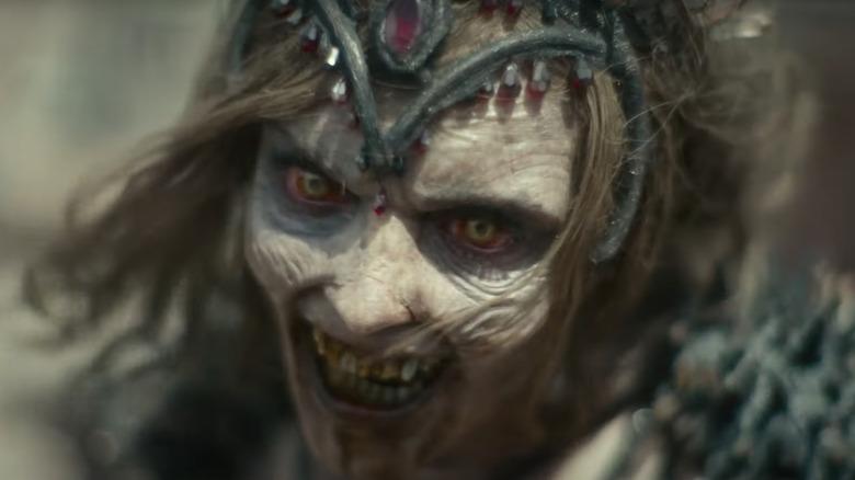 Zombie queen smiling