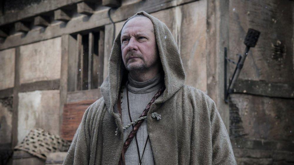 Ian Hart as Father Beocca on The Last Kingdom