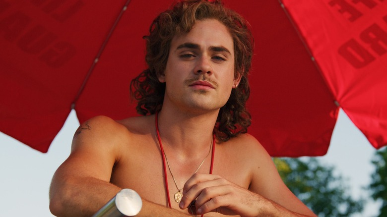 Dacre Montgomery as Billy Hargrove on Stranger Things season 3