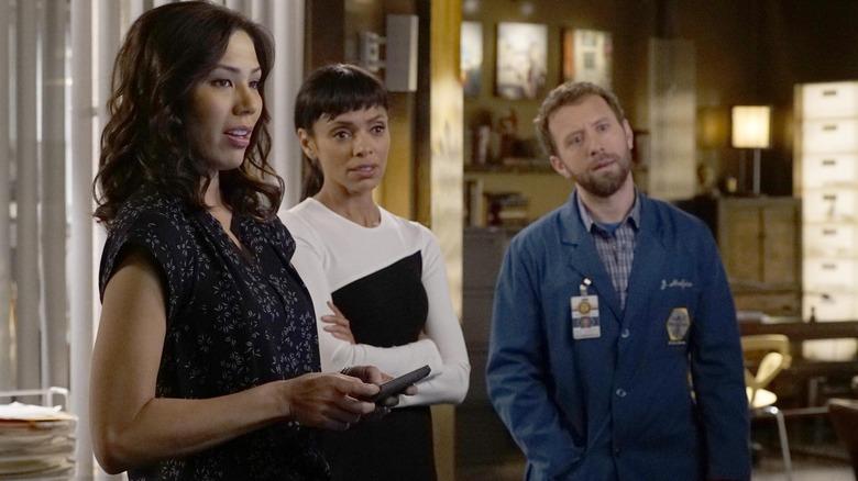 Michaela Conlin, Tamara Taylor, and T.J. Thyne on Fox's Bones