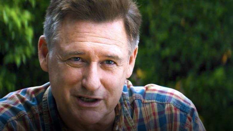 Brian Plummer talking outside