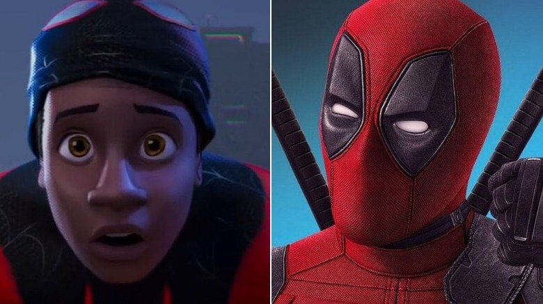 Split image of Miles Morales and Deadpool