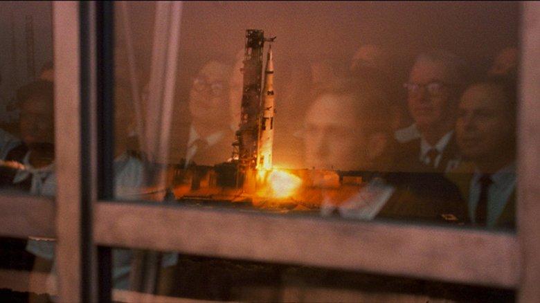 First Man rocket launch still