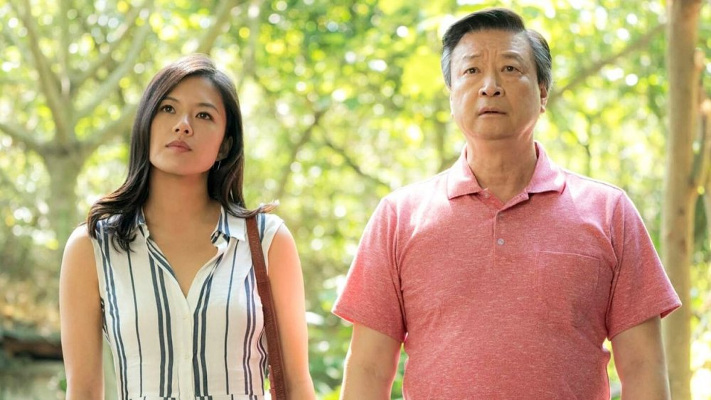 Christine Ko as Angela and James Saito as Hank in Tigertail