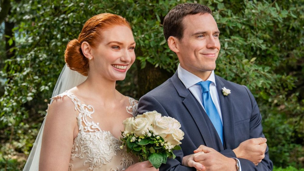 Eleanor Tomlinson and Sam Claflin in Love Wedding Repeat