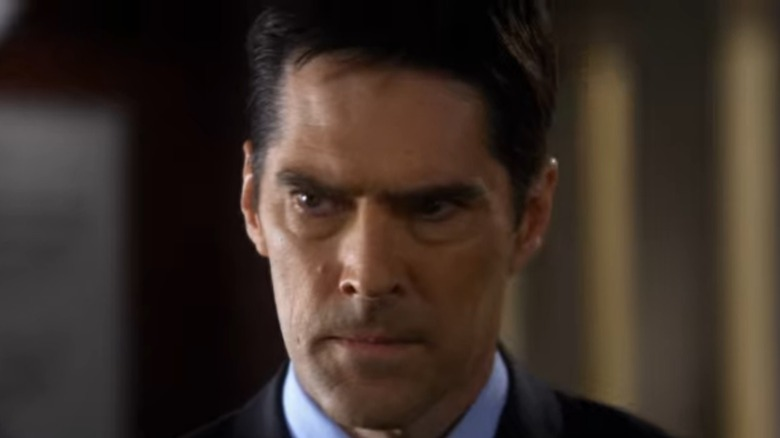 Hotch looking serious