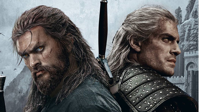 Jason Momoa and Henry Cavill in a The Witcher: Origins fanart