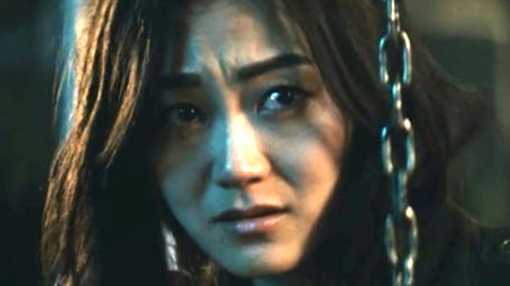 Karen Fukuhara with a chain