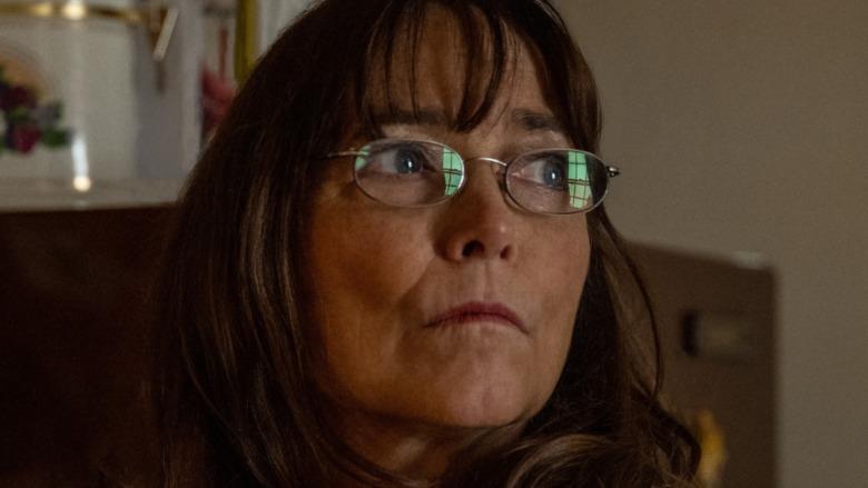 Karen Allen looking sinister