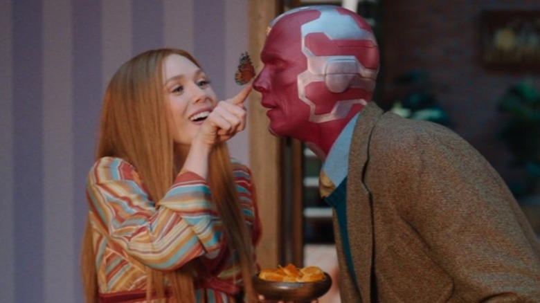 Wanda and Vision and butterfly