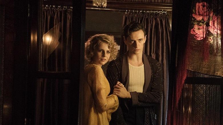 Lucy Boynton and Sergei Polunin in Murder on the Orient Express