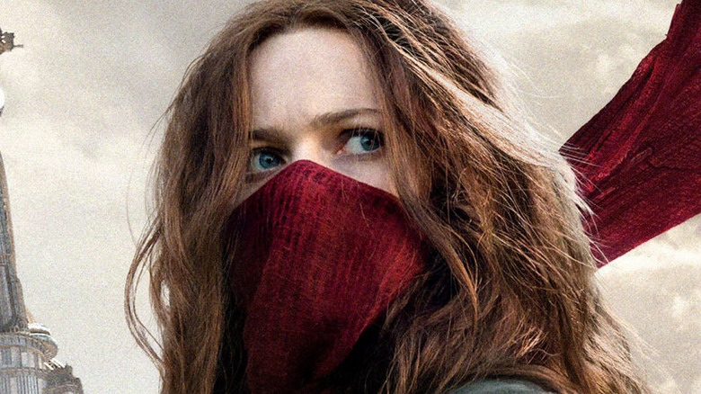 Hera Hilmar as Hester Shaw in Mortal Engines