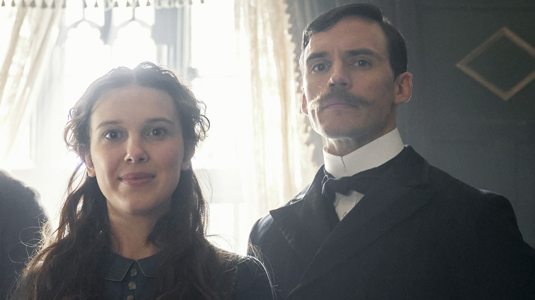 Sam Claflin stars as Mycroft Holmes in Enola Holmes
