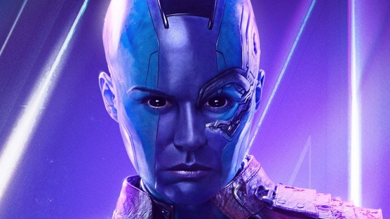 Karen Gillan as Nebula in Avengers: Infinity War