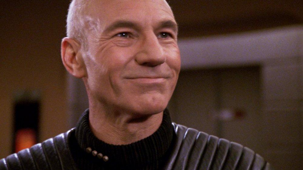 Patrick Stewart as Captain Picard on Star Trek