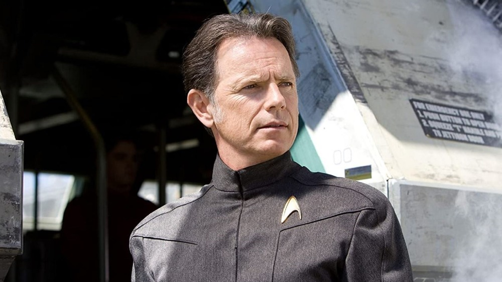 Captain Pike in grey uniform