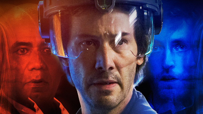Keanu Reeves, Thomas Middleditch, and John Ortiz on Replicas poster