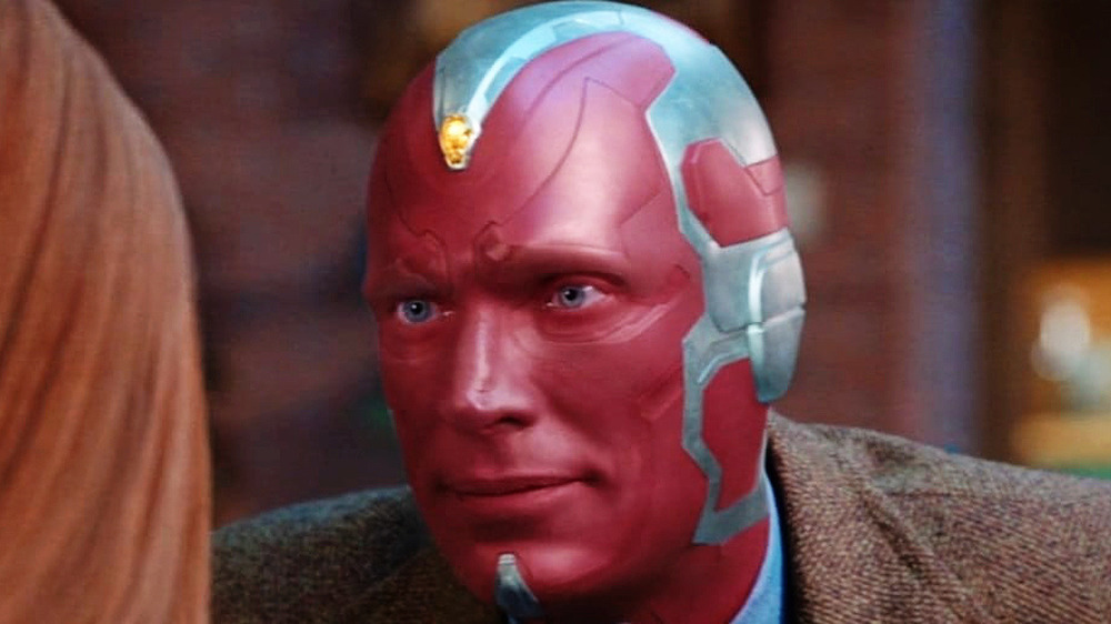 Paul Bettany Vision smiling