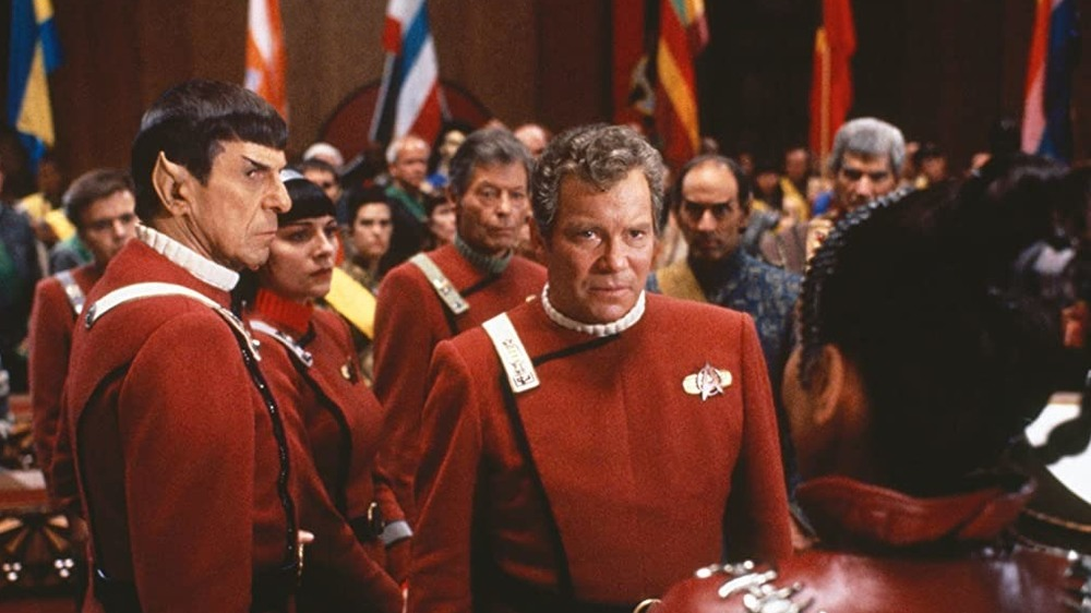 Kirk and Spock save conference