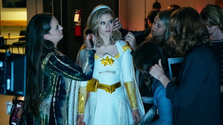 Erin moriarty as Starlight in Amazon's The Boys