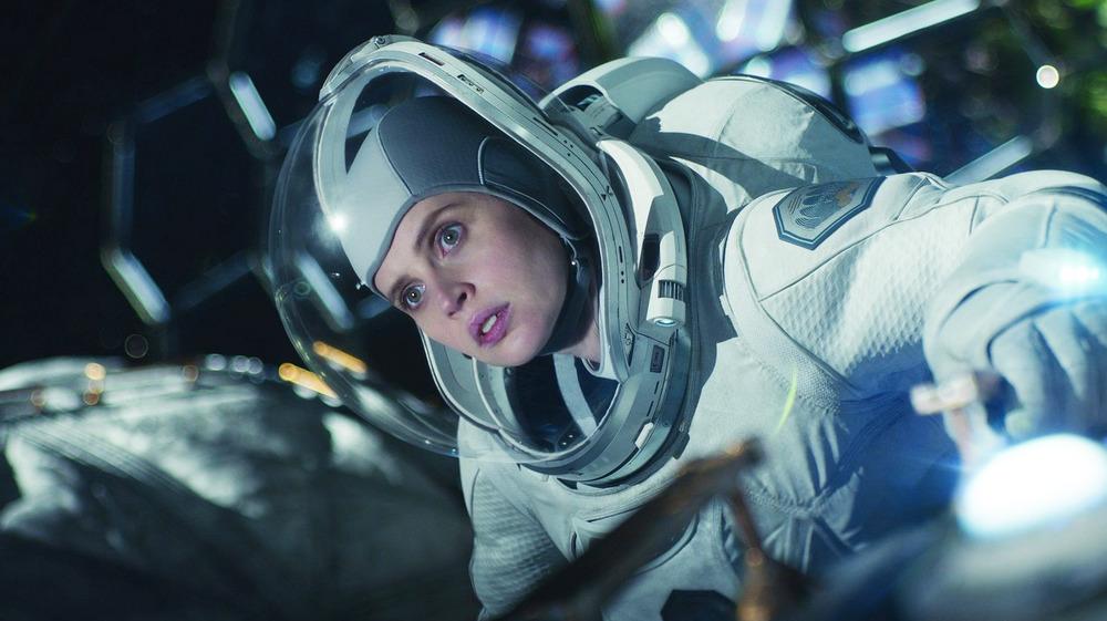 The Midnight Sky Felicity Jones in astronaut suit