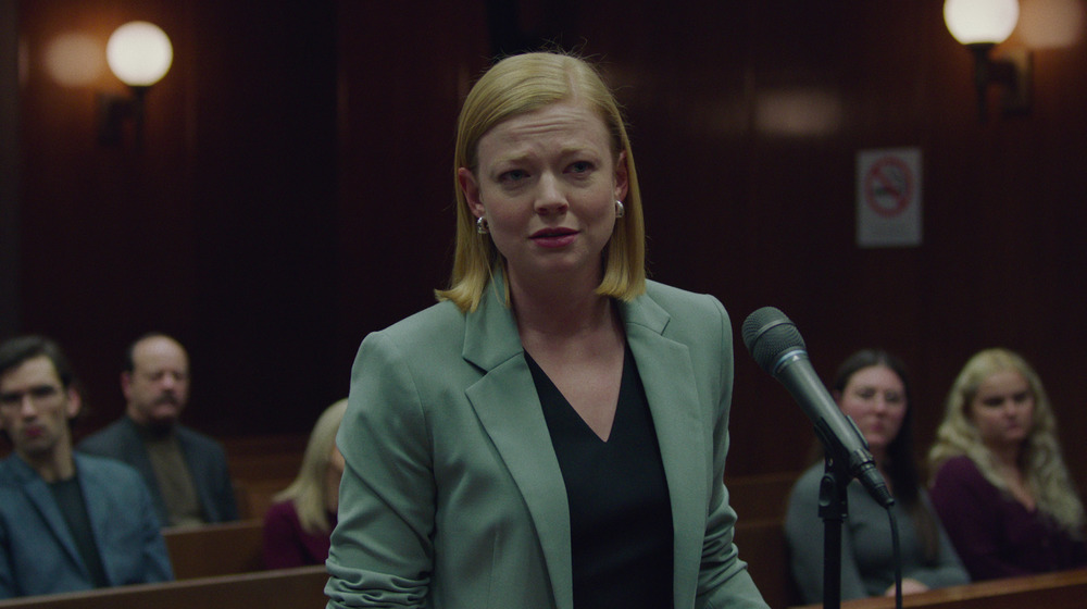 Lawyer Suzanne Weiss talking in court