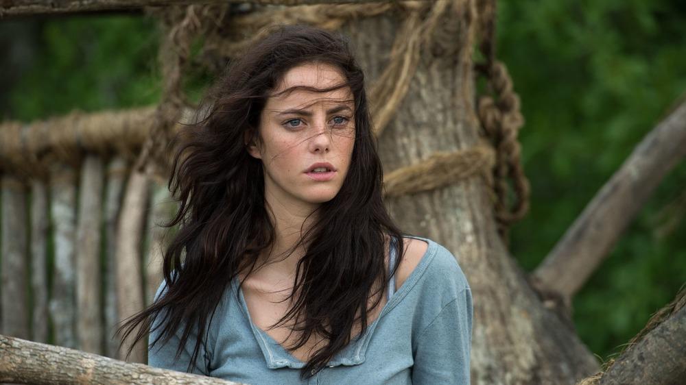 Teresa in windy treehouse