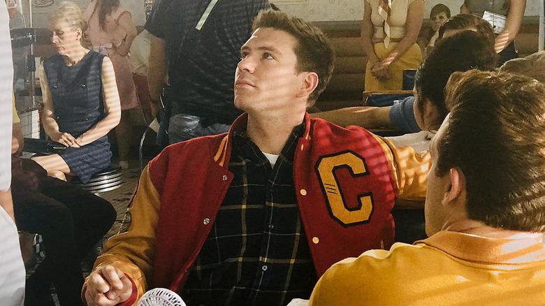 Jesse Kove in letterman jacket