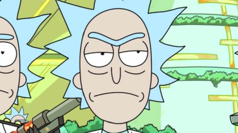 Rick Sanchez annoyed