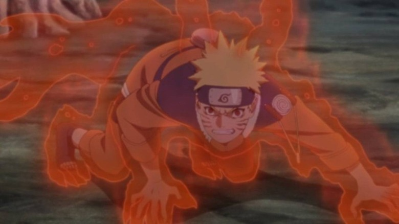 Naruto in his Nine-Tails form in the hit anime series