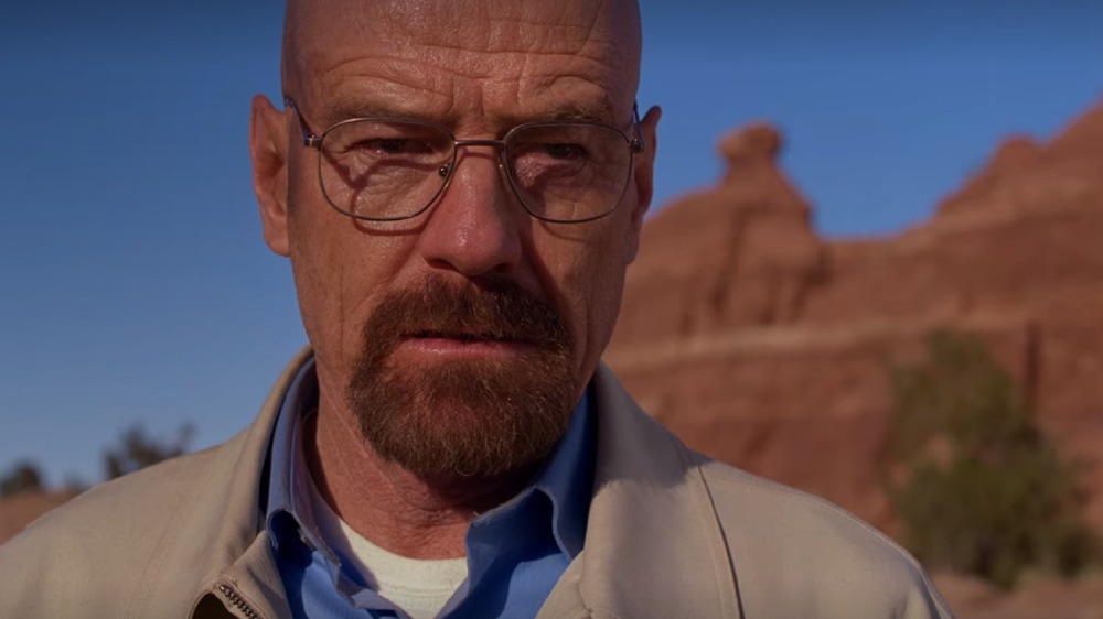 Walter White in the desert in Breaking Bad's Ozymandias episode